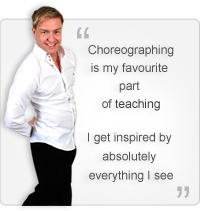 Choreographing is my favourite part of teaching. I get inspired by absolutely everything I see. Quote by John Carey
